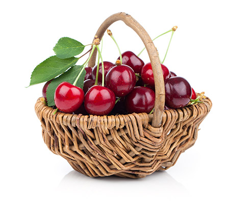 Basket of NZ Cherries